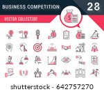 set vector line icons with open ... | Shutterstock .eps vector #642757270