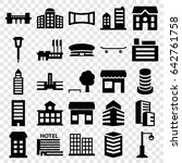 city icons set. set of 25 city... | Shutterstock .eps vector #642761758