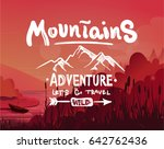 white logo emblem for hiking ... | Shutterstock .eps vector #642762436