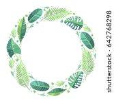 vector illustration. green... | Shutterstock .eps vector #642768298