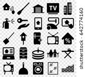 Home Icons Set. Set Of 25 Home...