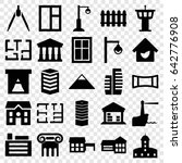 architecture icons set. set of... | Shutterstock .eps vector #642776908