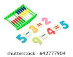 arithmetic example on white... | Shutterstock . vector #642777904