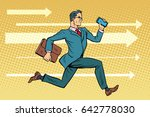 businessman with a smartphone... | Shutterstock .eps vector #642778030