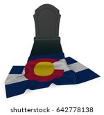 Gravestone And Flag Of Colorad...