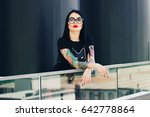 tattoo fashion. portrait of... | Shutterstock . vector #642778864