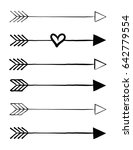 hand drawn traditional arrows... | Shutterstock .eps vector #642779554