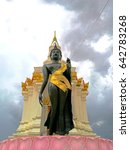 Small photo of Black buddha admit the storm