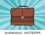 business leather briefcase. pop ... | Shutterstock .eps vector #642783994