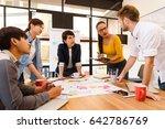 multi ethnic business person... | Shutterstock . vector #642786769