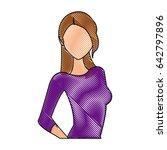 drawing portrait female... | Shutterstock .eps vector #642797896