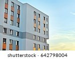 modern apartment buildings... | Shutterstock . vector #642798004