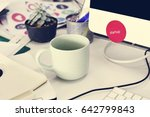 coffee cup on work table nobody | Shutterstock . vector #642799843