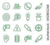 set of 16 idea outline icons... | Shutterstock .eps vector #642801268