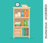 vector illustration of books on ... | Shutterstock .eps vector #642808804