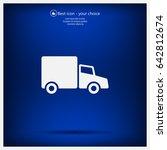 truck icon | Shutterstock .eps vector #642812674