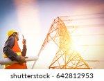 electric engineer working on... | Shutterstock . vector #642812953