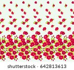 pretty vintage feedsack border... | Shutterstock .eps vector #642813613