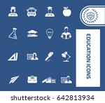 education icon set clean vector | Shutterstock .eps vector #642813934