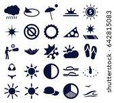 sun icons set. set of 25 sun... | Shutterstock .eps vector #642815083