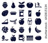 diet icons set. set of 25 diet... | Shutterstock .eps vector #642815134