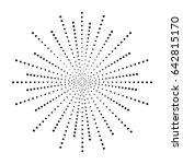 dot sunburst. halftone effect... | Shutterstock .eps vector #642815170