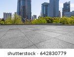 empty brick floor with... | Shutterstock . vector #642830779