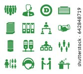 corporate icons set. set of 16...   Shutterstock .eps vector #642848719
