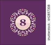 8 letter emblem sign for... | Shutterstock .eps vector #642857308