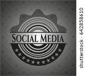 social media realistic black...   Shutterstock .eps vector #642858610