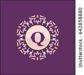 q letter emblem sign for... | Shutterstock .eps vector #642858880