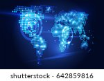 blue abstract background... | Shutterstock .eps vector #642859816