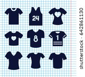 set of 9 t filled icons such as ... | Shutterstock .eps vector #642861130