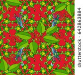 motley seamless pattern.... | Shutterstock . vector #642863884