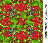 seamless pattern abstract... | Shutterstock .eps vector #642863890