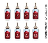 blood type in the bottle | Shutterstock .eps vector #642868348