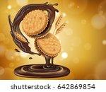 chocolate flavor sandwich... | Shutterstock . vector #642869854