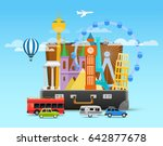 vacation travelling composition ... | Shutterstock .eps vector #642877678