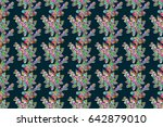elegant seamless pattern with... | Shutterstock . vector #642879010
