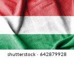 hungary cotton flag | Shutterstock . vector #642879928