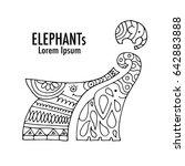 ornate elephant design | Shutterstock .eps vector #642883888