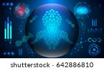 abstract science concept human... | Shutterstock .eps vector #642886810
