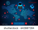 infographic abstract technology ... | Shutterstock .eps vector #642887284