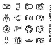 photographic icons set. set of... | Shutterstock .eps vector #642889108