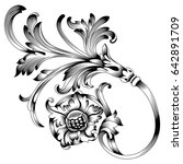 vintage baroque ornament ... | Shutterstock .eps vector #642891709