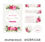 wedding floral template... | Shutterstock .eps vector #642892168