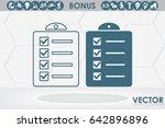 checklist icon vector... | Shutterstock .eps vector #642896896