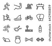 exercise icons set. set of 16... | Shutterstock .eps vector #642900859