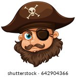 Pirate Wearing Hat And Eyepatc...
