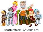 king and other fairytale... | Shutterstock .eps vector #642904474